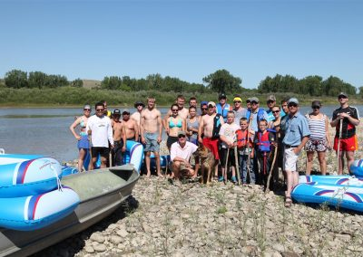 A brave crew tackling the mighty Red Deer River!