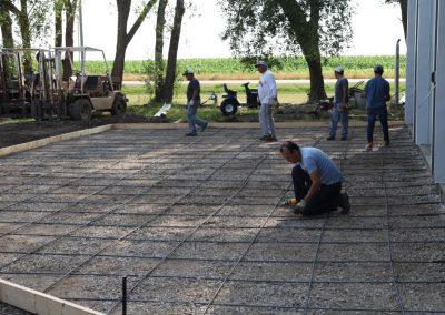 Almost ready to pour concrete.