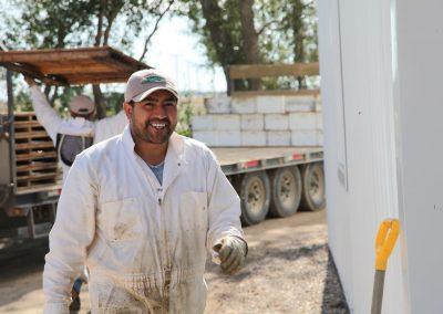 Fernando is all smiles about the amount of honey he pulled.