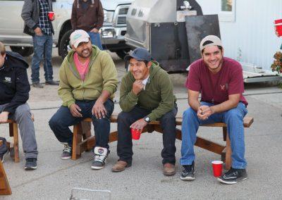 Fernando, Alfonzo, and Antonio sharing some stories.