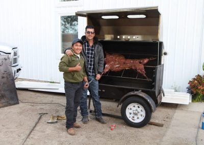 Guys were still hungry. Alfonzo and Luis cook a lamb!