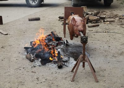 Guys are hungry!  Cook a pig!